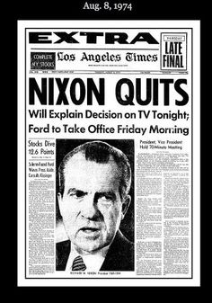 Nixon was the 37th president of the U.S. During his term, the Watergate Scandal occurred. This was a political scandal  that came about as a result of the June 17, 1972 break-in at the Democratic National Committee headquarters at the Watergate office complex in Washington, D.C.. Nixon administration's attempted cover-up of its involvement. The scandal led to the resignation of Nixon, August 9, 1974. To this date, only resignation of a U.S. president.  #hesintrouble #presidentsofushistory