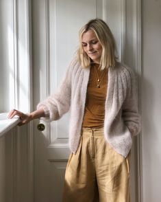 Ravelry: Sunday Cardigan - Mohair Edition pattern by PetiteKnit Mohair Yarn, Mohair Sweater, Knit Cardigan Pattern, I Cord, Knit In The Round, Summer Pants, Yarn Shop, Junior, Stockinette