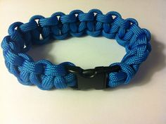 Para cord braided bracelet, Turquoise, 7.5 in (P021) on Etsy, $7.50