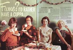 Afternoon cuppa with Cynthia, Chummy, Jenny, and Trixie! - Call the Midwife (PBS)