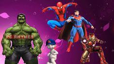 Avengers Hulk Ironman Spiderman Superman | Marvel SuperHeros Finger Fami...