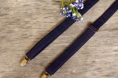 Navy Blue Suspenders / Wedding Suspenders / by TheBestBoysTies