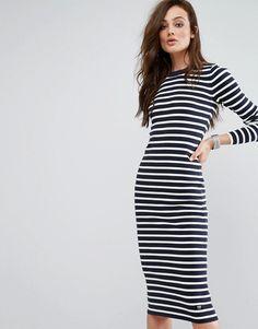 G-Star Stripe Midi Dress