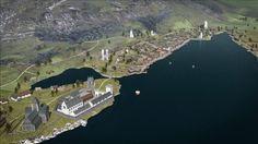 Fly over medieval Bergen!