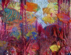 A arte do Bordado e um pouco de sua História.Parte II/ Under the sea embroidery - Arthur Ridley/ read more: http://fazendoartedmc.blogspot.com.br/2015/12/a-arte-do-bordado-e-um-pouco-de-sua.html