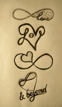 Infinity Love Tattoos in memory of my dad Heart With Infinity Tattoo, Infinity Tattoo Designs, Tatoo Designs, Infinity Tattoos, Henna Designs, Wicked Tattoos, Weird Tattoos, Love Tattoos, I Tattoo