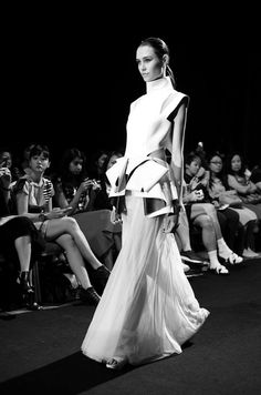 Finale look from Sugee Wee Spring Summer 2015 runway show during Malaysia Fashion Week 2014.