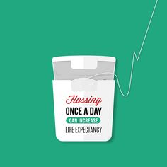 DID YOU KNOW that flossing can increase your life expectancy by six years? #awinkandasmile #eyeanddentalcare