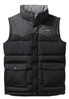 Patagonia slingshot down vest, $150