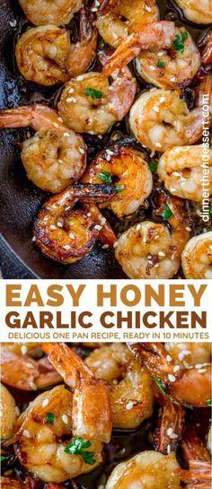 Cooked Shrimp Recipes, Shrimp Recipes For Dinner, Chicken And Shrimp Recipes, Shrimp Dishes, Seafood Dinner, Seafood Recipes, Easy Dinner Recipes, Easy Meals, Cooking Recipes
