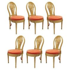 Check out this item at One Kings Lane! French Balloon Chairs, S/6