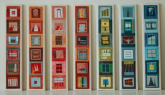 Quilt totems by Erin Wilson.