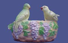 Old Japan Planter w/ Grapes 'n Birdies from antiquebeak on Ruby Lane