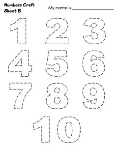 number 1-10 cut and paste  | Numbers 1-10 Jigsaw Craft - Sheet B print