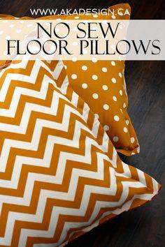 No+Sew+Floor+Pillows