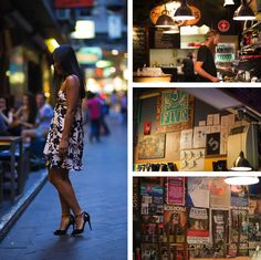 Check out the Melbourne laneways. They are lined with little boutiques and cafes which serve excellent coffee! Melbourne Laneways, Melbourne Coffee, The Secret, Times Square, Boutique, Woman, Boutiques