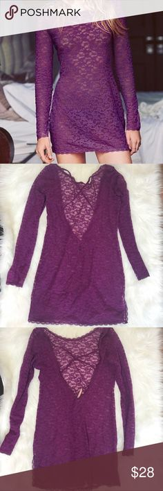 VS Large Purple Slip See through Victoria's Secret Intimates & Sleepwear Chemises & Slips