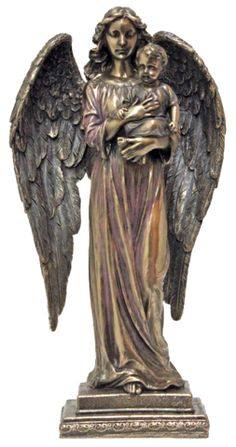 Angel With Baby Memorial Statue - Veronese Collection – Beattitudes Religious Gifts