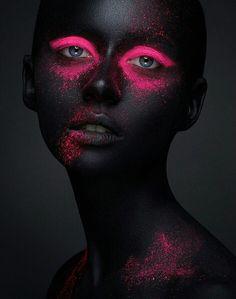 Creative makeup beauty body art theme stock photo (edit now) 617652932 Neon Photography, Makeup Photography, Fine Art Photography, Portrait Photography, Foto Face, Shooting Photo, Black Women Art, Creative Portraits, Fantasy Makeup