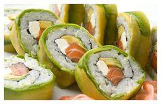 Sushi rolls y envueltos en palta mmmm!!!