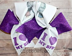 This set of BFF are so cute! You and your bestie can show your love for each other with our I Love My BFF Bows.