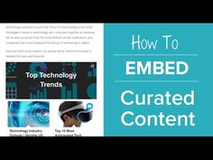 How to Embed Curated Content Onto a Website #content #curation #blogger #marketer #smm #content #writers #embed https://www.youtube.com/watch?v=hTH56GggDJw&utm_content=bufferfd074&utm_medium=social&utm_source=pinterest.com&utm_campaign=buffer