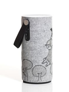 """Libratone Fairytale Edition"" A series of wireless Libratone Zipp speakers. Hand-embroidered by Danish cartoonist Stine Spedsbjerg and inspired by the story of Thumbelina by Hans Christian Andersen. http://www.libratone.com/play/fairytale-edition/"
