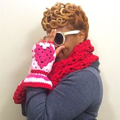 Love Gloves, CROCHET PATTERN ONLY, heart shaped not yo grannys square fingerless gloves with a flair, just in time for valentines day by TheScarvinArtist on Etsy