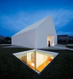 A modern, minimal house located on the outskirts of Leiria, Portugal by Aires Mateus . The house doesn't . Architecture Bauhaus, Minimalist Architecture, Residential Architecture, Amazing Architecture, Contemporary Architecture, Art And Architecture, Contemporary Houses, Vernacular Architecture, Contemporary Design