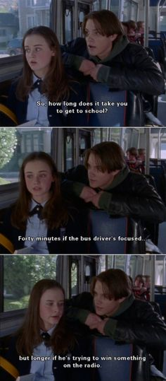 Rory taking the bus to school