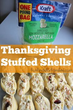 A new twist on Thanksgiving leftovers - Thanksgiving Stuffed Shells! #NaturallyCheesy FunFindsforFamilies.com (ad)