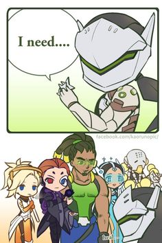 All the supports: go ahead say it! Genji: never mind