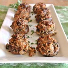 Mushrooms, Paleo and Shrimp stuffed mushrooms on Pinterest
