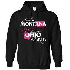 A MONTANA-OHIO girl Pink02 - #tshirt bemalen #sweater storage. SECURE CHECKOUT => https://www.sunfrog.com/States/A-MONTANA-2DOHIO-girl-Pink02-Black-Hoodie.html?68278