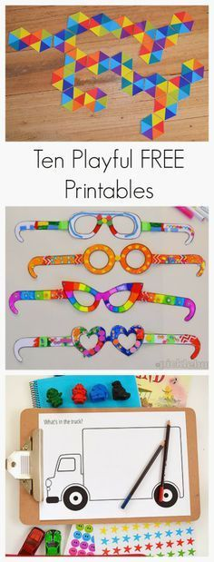 Ten Playful Free Printables for Kids by Picklebums for Fun at Home with Kids