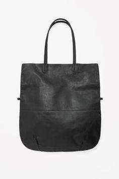 COS | Raw-edge leather shopper