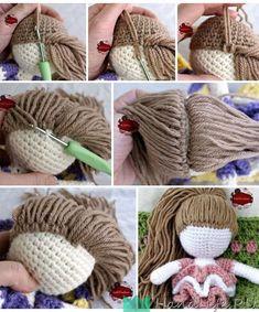Mesmerizing Crochet an Amigurumi Rabbit Ideas. Lovely Crochet an Amigurumi Rabbit Ideas. Knitted Dolls, Crochet Dolls, Crochet Baby, Free Crochet, Knit Crochet, Crochet Doll Pattern, Crochet Patterns Amigurumi, Crochet Stitches, Knitting Patterns