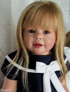 Nancy's Lil Darlings Katie by Ann Timmerman Adorable Toddler Girl Reborn Bb Reborn, Reborn Child, Reborn Toddler Girl, Child Doll, Reborn Baby Dolls, Lifelike Dolls, Realistic Dolls, Pretty Dolls, Cute Dolls