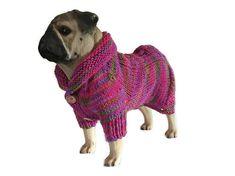Dog cardigan, Alpaca mix, pink dog sweater, dog clothing, puppy clothes, dog…