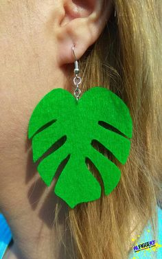 c6bb3564d2f3 Monstera leaf earrings Green monstera jewelry Cheese plant earrings Jungle  earrings Palm tree earrings Philodendron leaf Crazy plant lady
