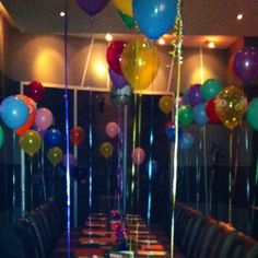 Surprise birthday party set up.
