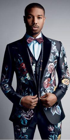 Michael B Jordan Goes Dandy for Vogue Photo Shoot Michael B. Jordan, Mode Swag, Designer Suits For Men, Moda Casual, Men's Suits, African Men Fashion, Mens Fashion Suits, Suit And Tie, Wedding Suits