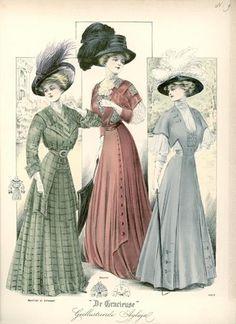De Gracieuse, May 1908, Edwardian Fashion Plate                                                                                                                                                                                 More