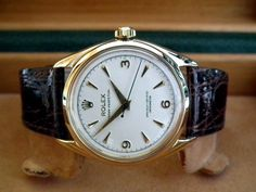 Collector Standard 1959 Solid 9ct Gold Rolex Oyster with ALL Original Paperwork