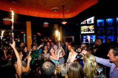 It's getting hot in here! Bottle heat up Blue Martini in Bellevue, WA. Bottle Sparklers, Small Fountains, Spice Things Up, Night Club, Martini, Cocktails, Concert, Celebrities, Hot
