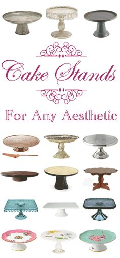 Cake stands are a versatile and unique decorating item. Perfect for tablescapes or as a way to add elevation to items on shelves and mantels.  There are so many great choices for any price and style.  This collection has a little something for everyone!