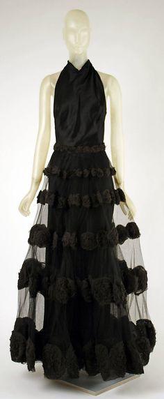 Vintage dress - Madeleine Vionnet 1930s Silk evening gown