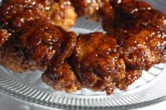 Challah Monkey Bread. I have used Kineret frozen challah for this.