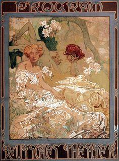 Alphonse Mucha - Programme for New German Theater 1908