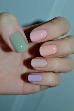Cool Pastel Nail Designs #pastelnails